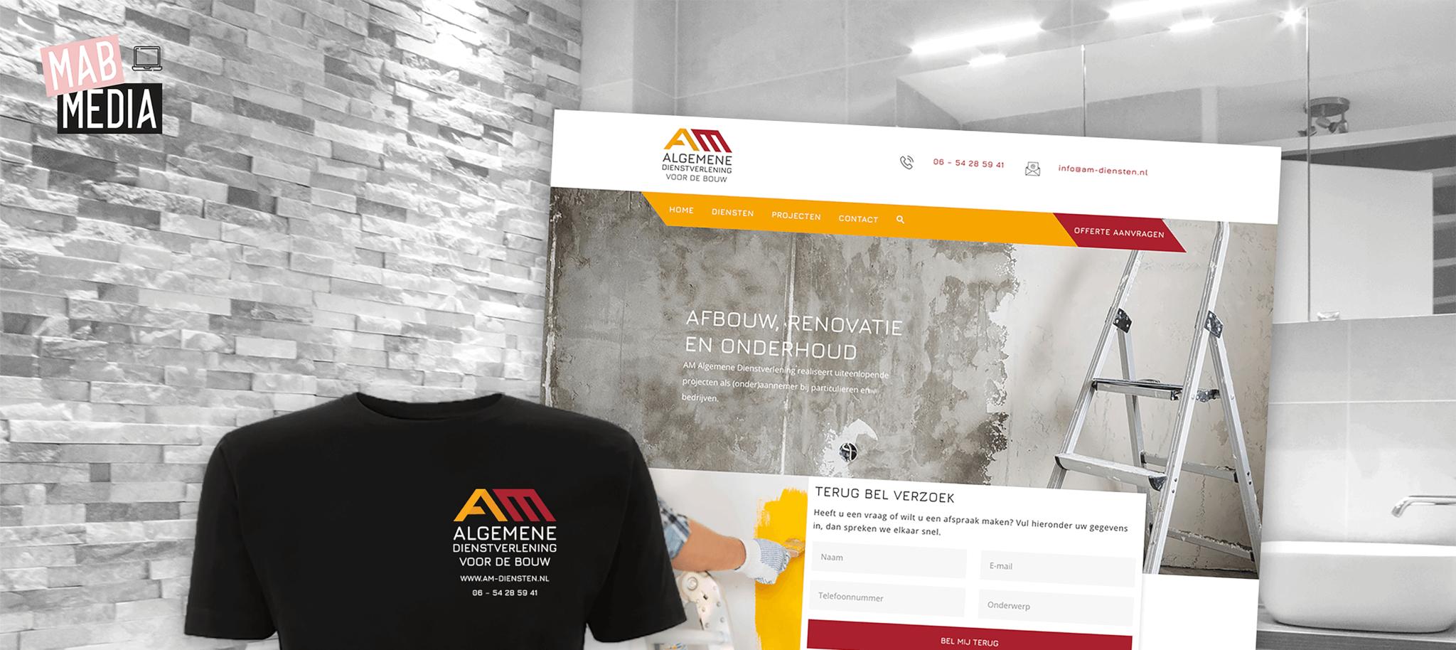 MAB Media Project AM Algemene Dienstverlening nieuwe website en huisstijl