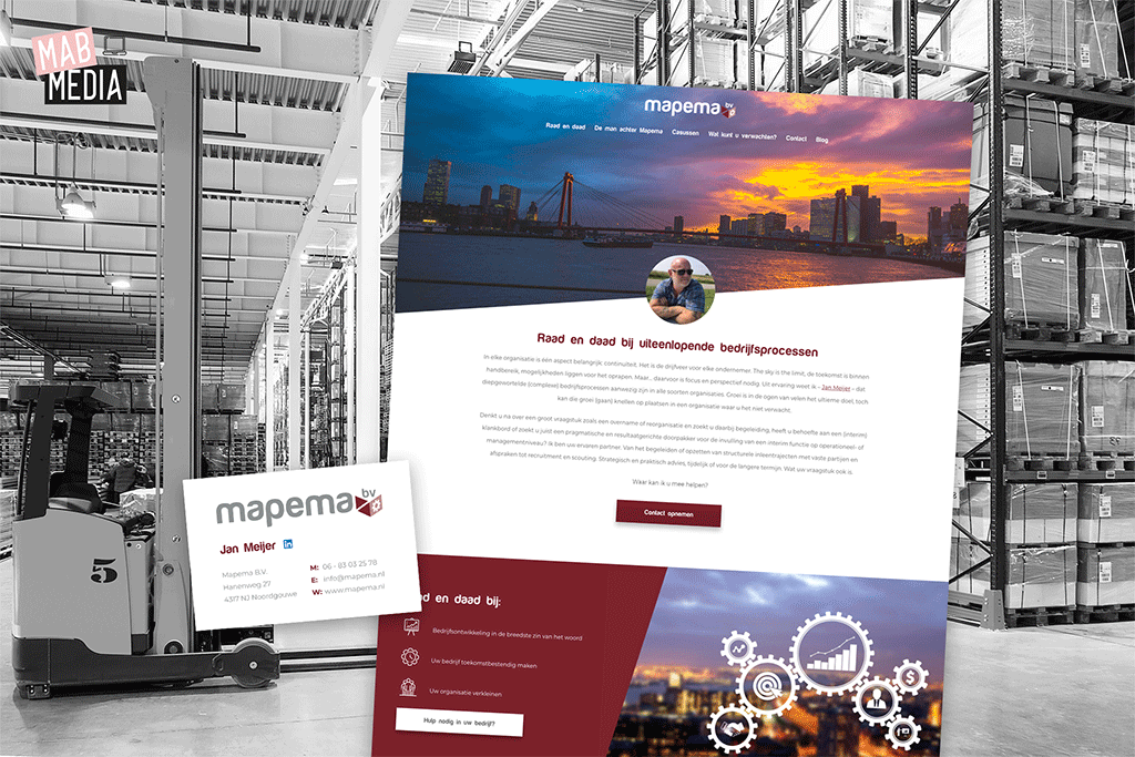 MAB Media project Mapema Optimalisatie en herstellen website ontwikkeling