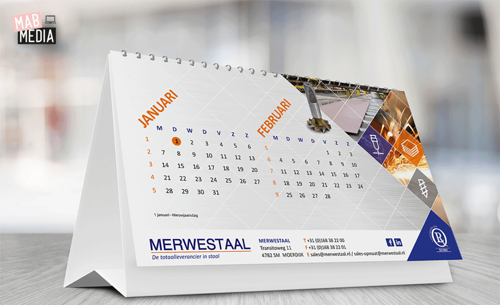 MAB Media Project Merwestaal Bureaukalender 2019