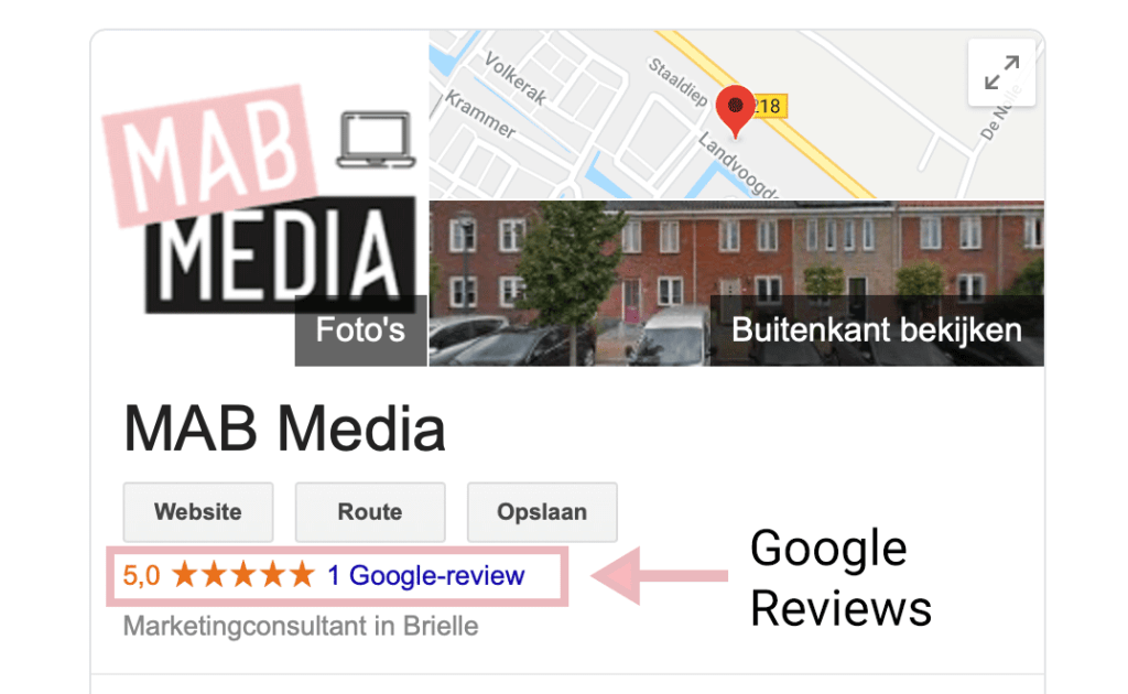 Google Reviews MAB Media Marketingbureau Brielle