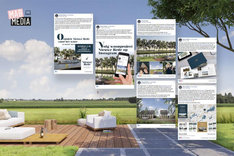Facebook onderhoud Woonproject Nieuwe Rede in Leimuiden door MAB Media Brielle