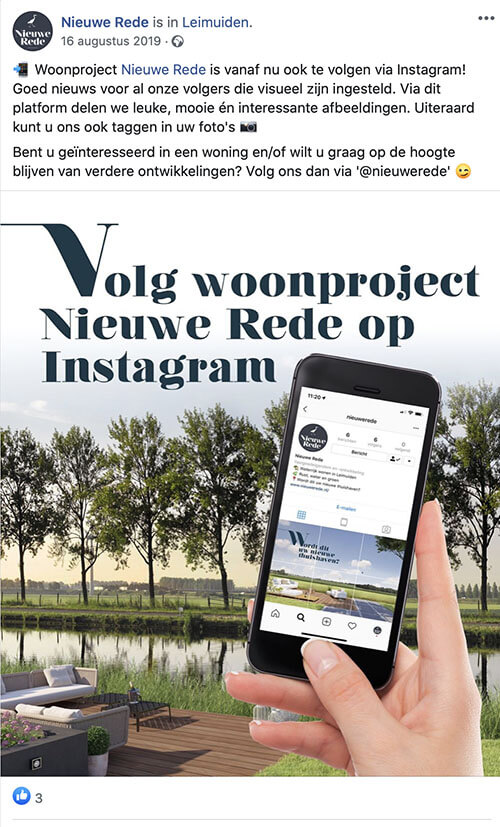 Social media uitbesteden Marketingbureau MAB Media Brielle voorbeeldbericht 4