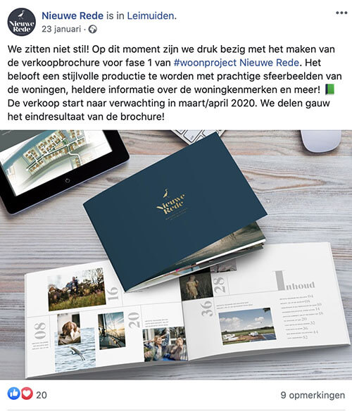 Social media uitbesteden Marketingbureau MAB Media Brielle voorbeeldbericht 6
